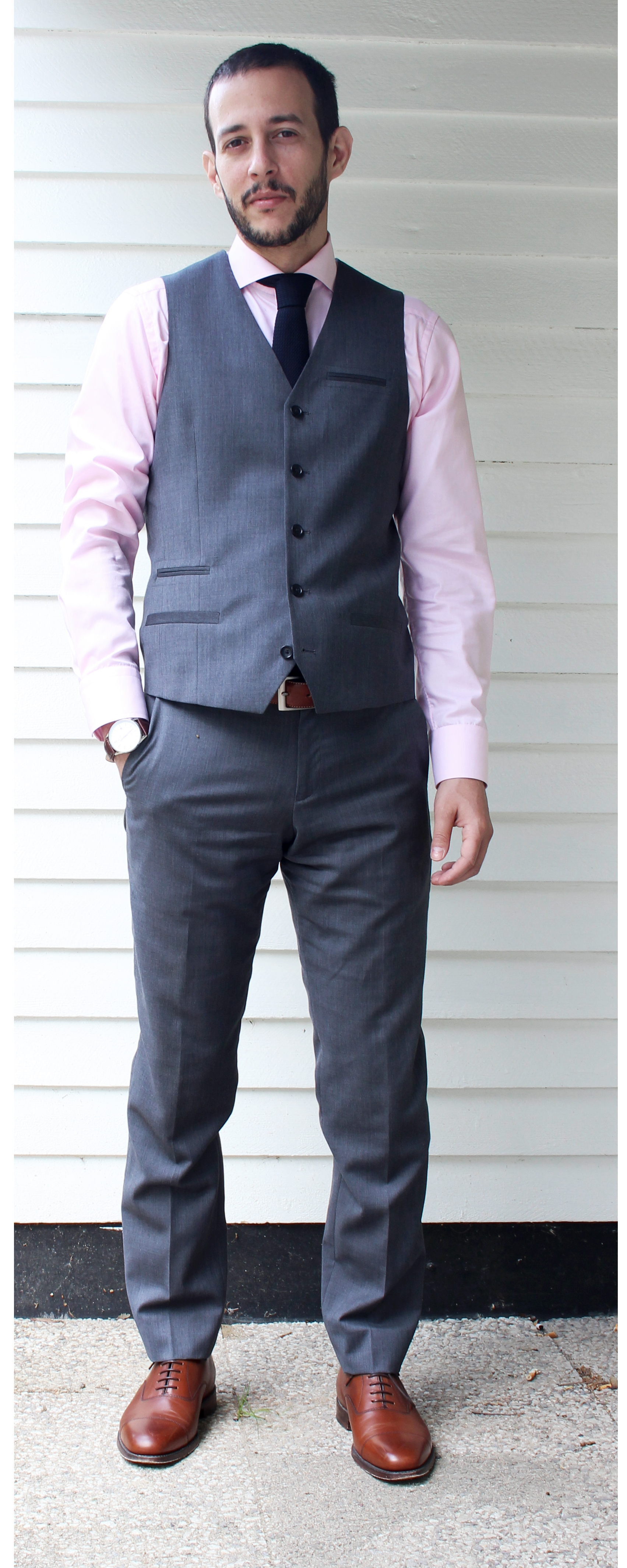 What to wear with grey suit jacket?