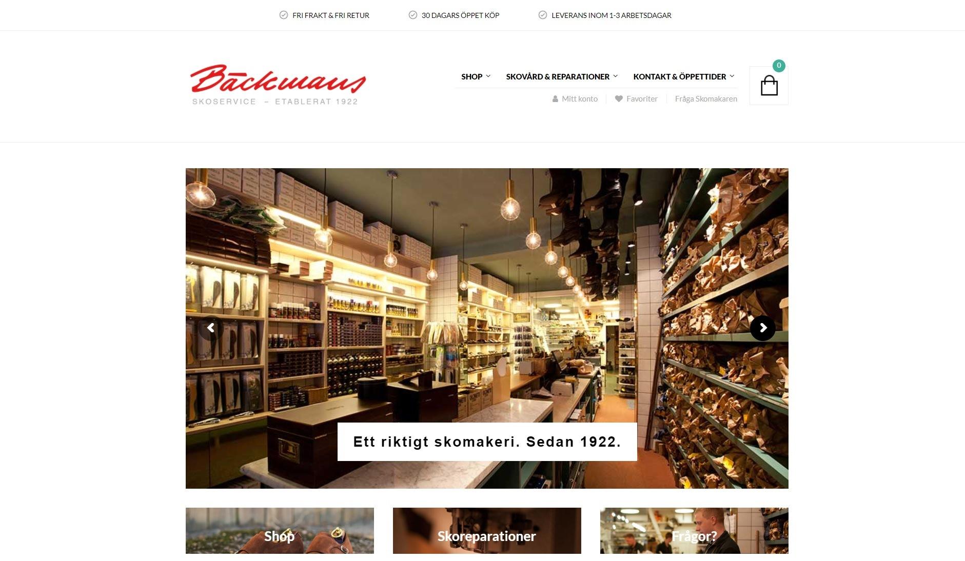 Best clothing stores in Stockholm - Bäckmans Skoservice