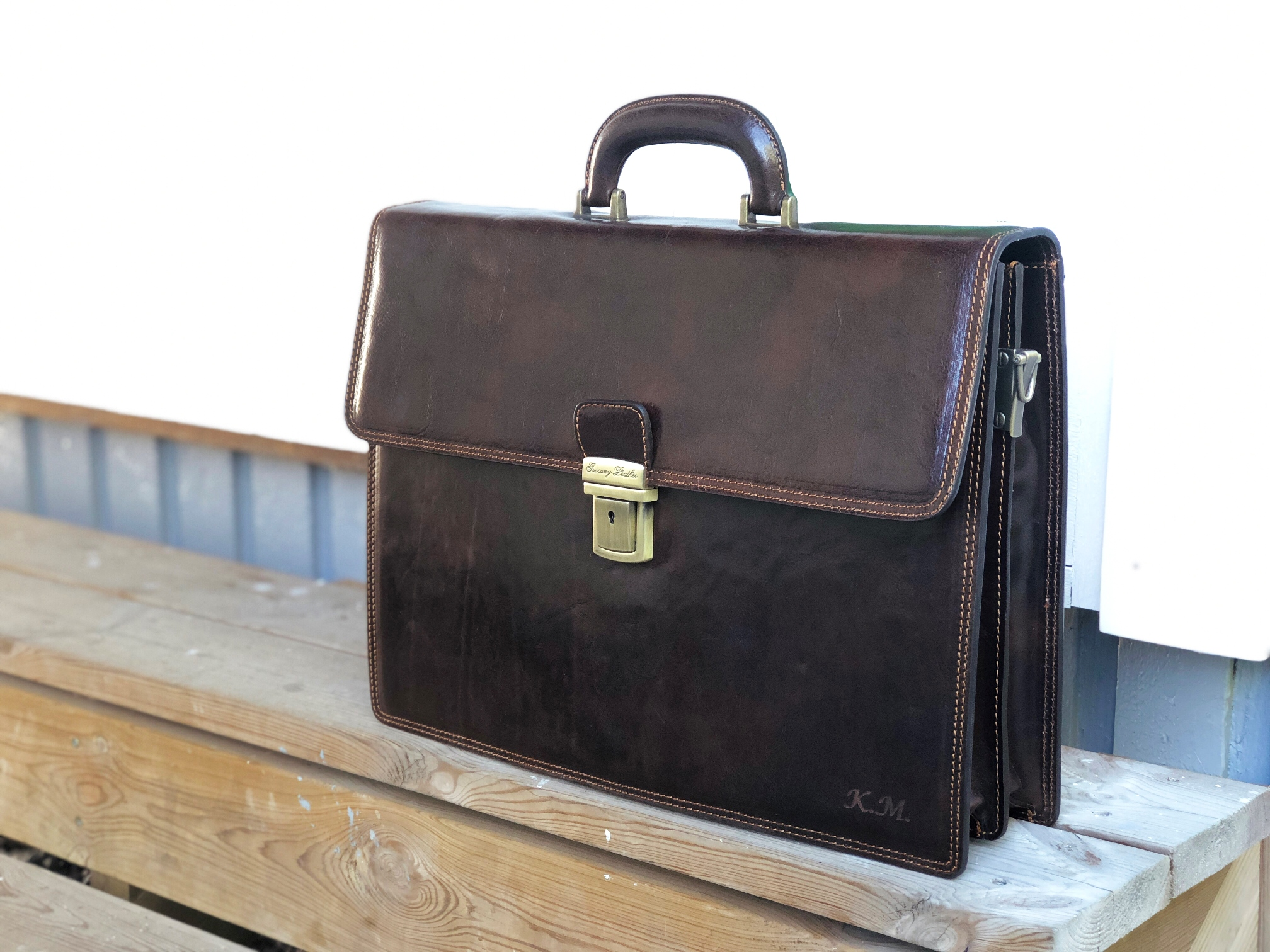 Tuscany Leather Briefcase Review Italian Vintage Luxury