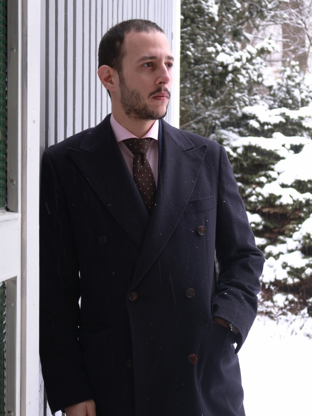 088f8e3209 Navy Double Breasted Suitsupply Cashmere Coat Review   Misiu Academy