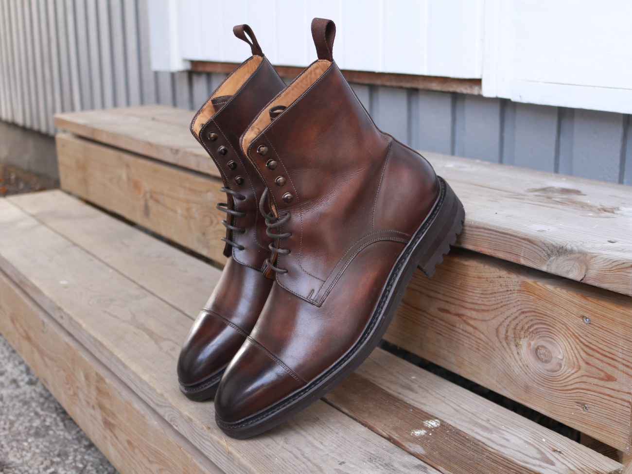 Carlos Santos Boots Review - Lace Up Derby Boots in Coimbra Patina