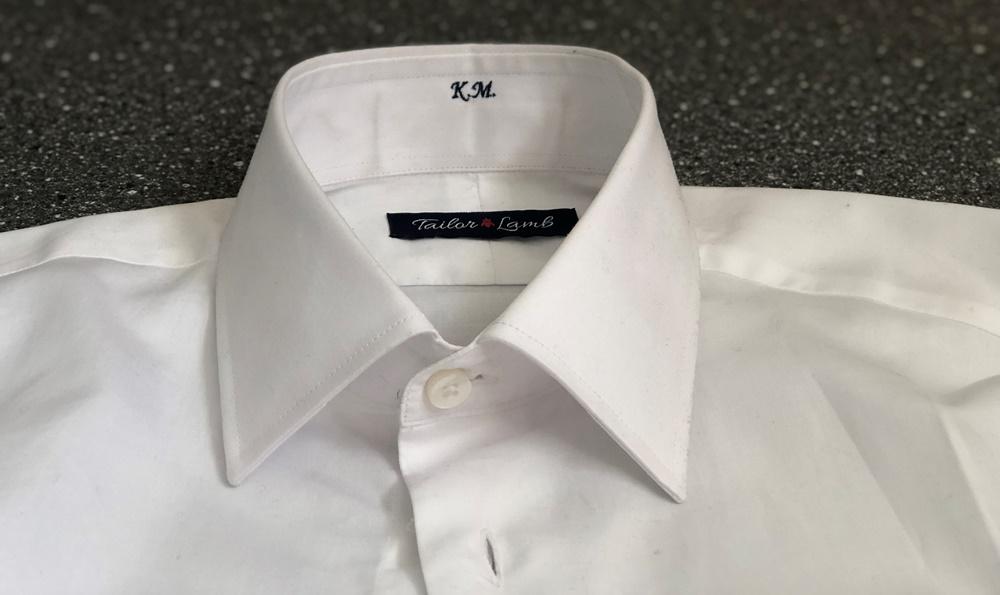 Tailor Lamb Review - Collar and Monogram