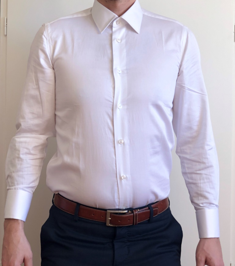 Tailor Lamb White Shirt Front View