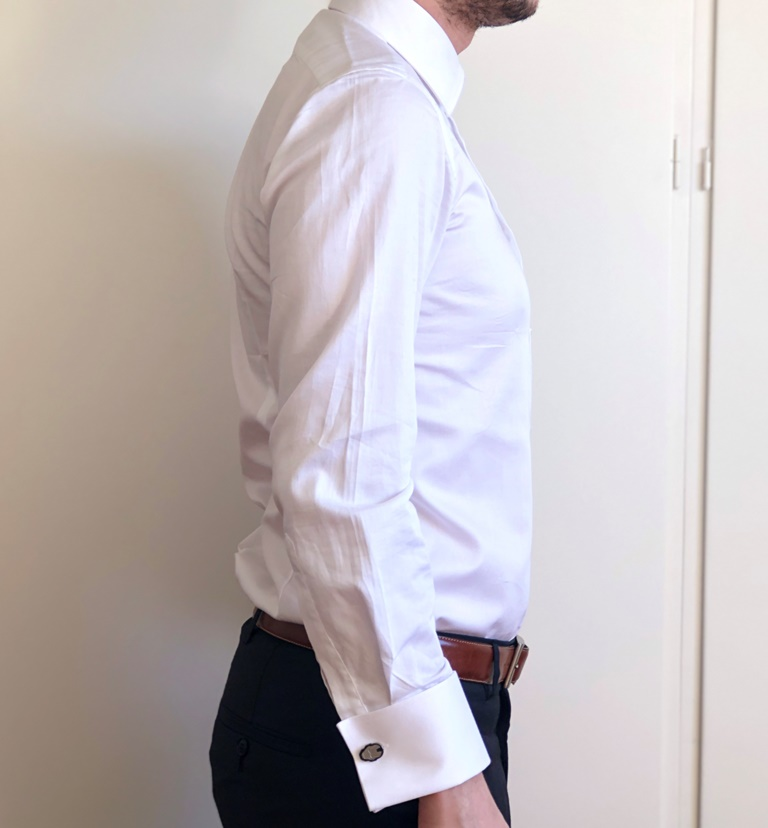 Tailor Lamb White Shirt Side View