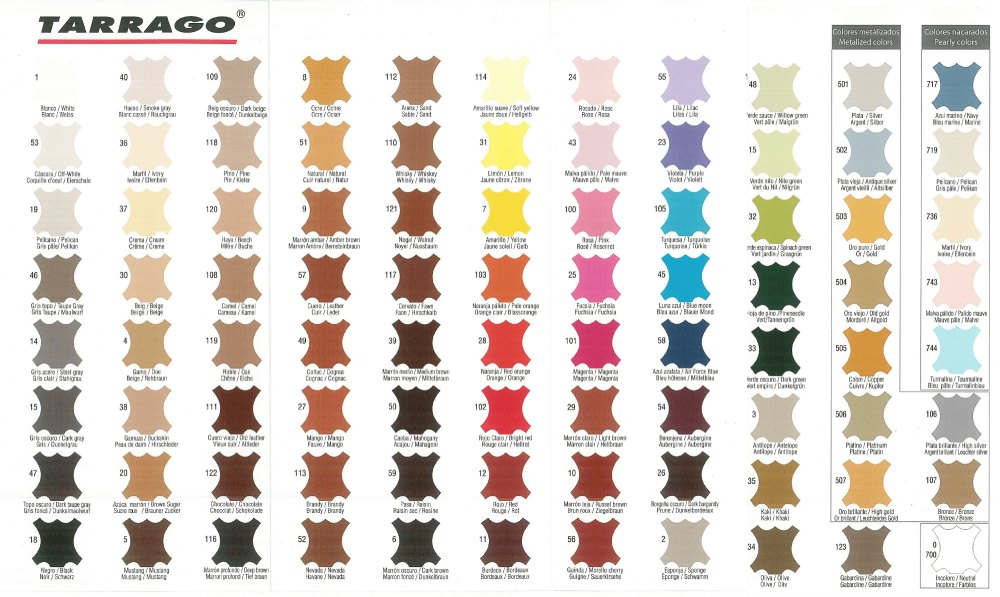 Tarrango Color Chart Polish