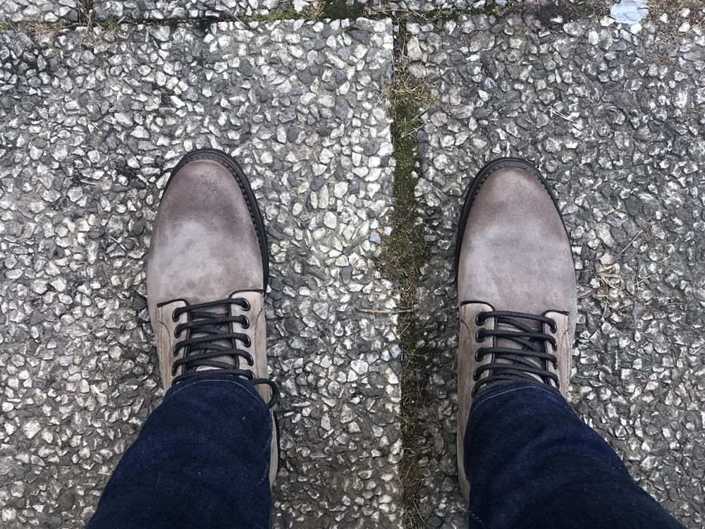 Project TWLV Royal Logger Boot in Sand Suede Overview