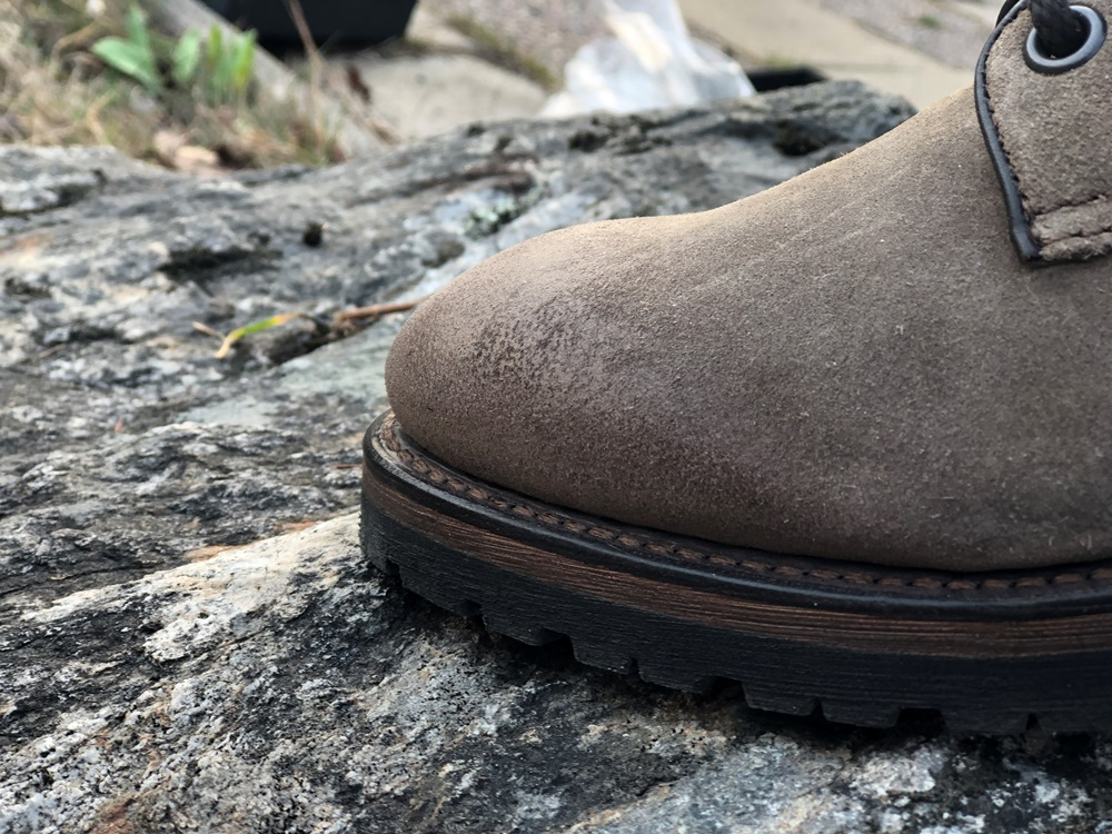 Project TWLV Royal Logger Boot in Sand Suede Welt and Toe
