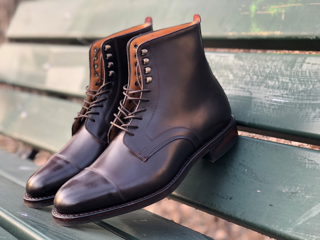 Edward and James Rushton English Cordovan Boot by Pediwear