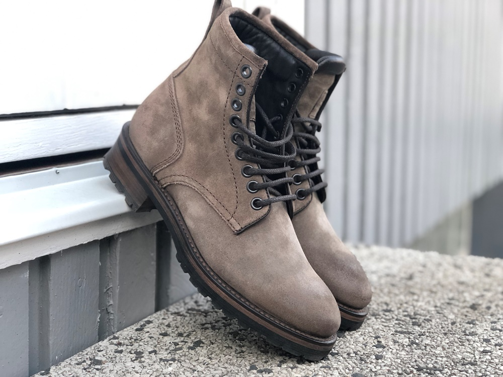 Project TWLV Royal Logger Boot in Sand Suede