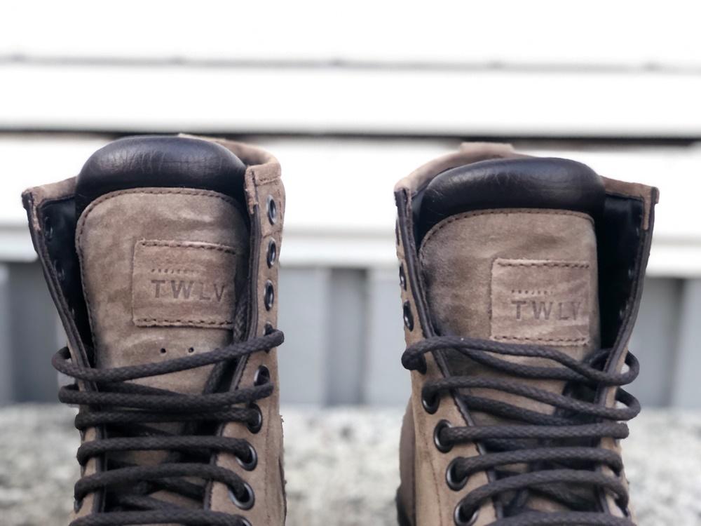 Project TWLV Royal Logger Boot in Sand Suede Tongue and Laces