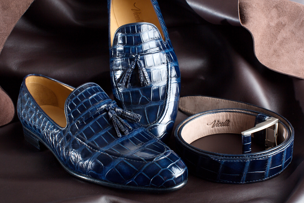 Vicelli Bespoke Shoemaker - Crocodile Loafers