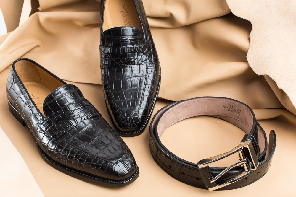 Vicelli Exotic Loafers and Belt