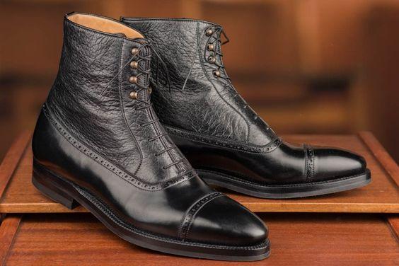 Enzo Bonafe Peccary Uppers Boots