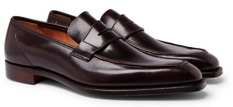 Best Formal Shoe Brands - George Cleverly Horween Shell Cordovan Leather Penny Loafers
