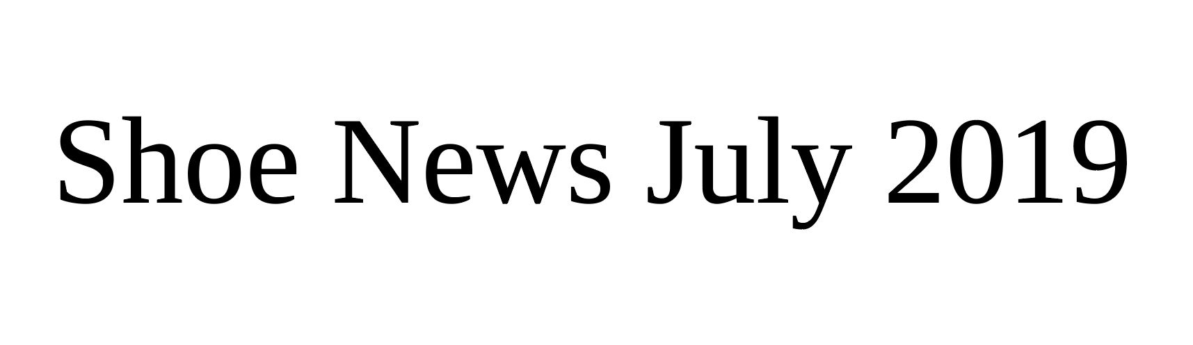 shoe news 2019