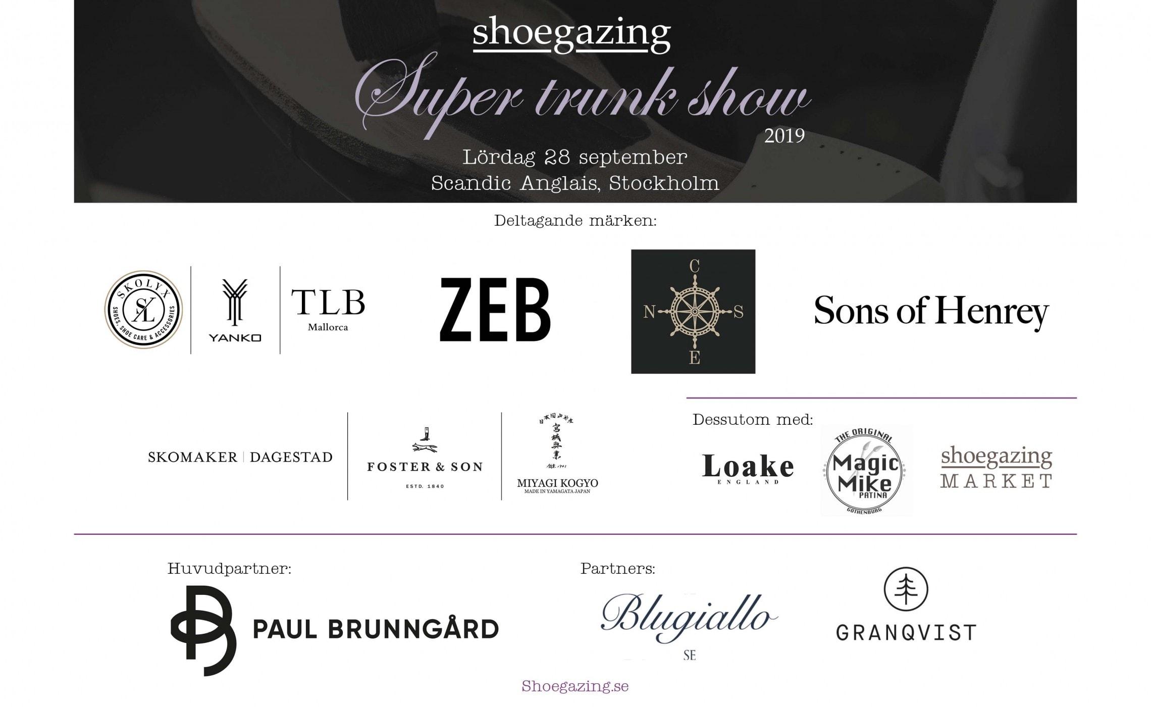 Shoegazing Stockholm Trunk Show 2019