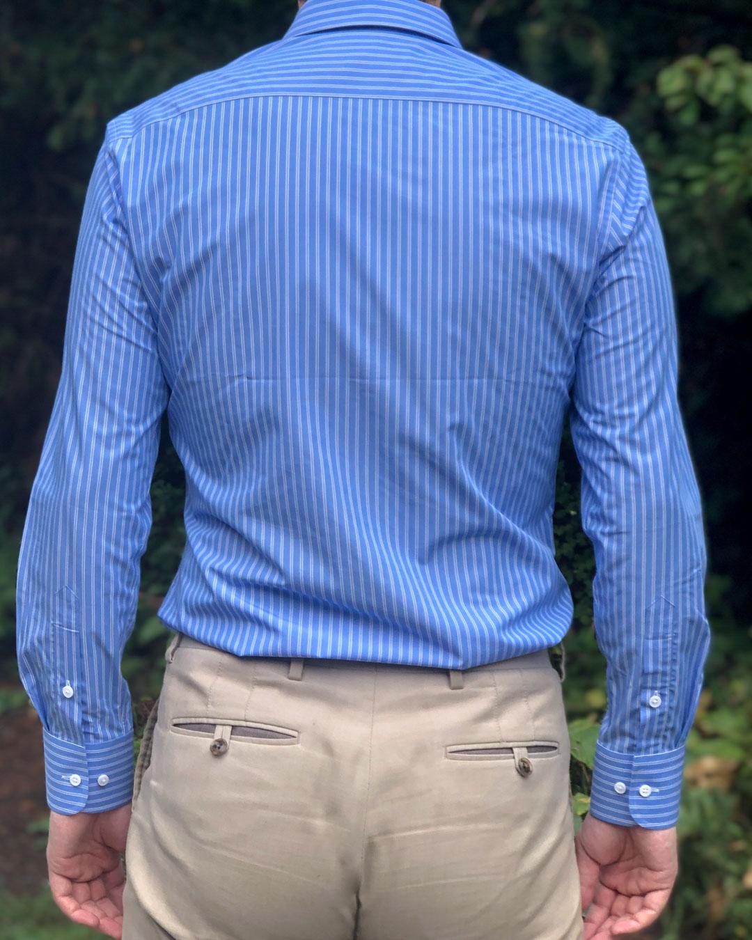 MatchU Tailor Blue Bamboo Striped Shirt Review