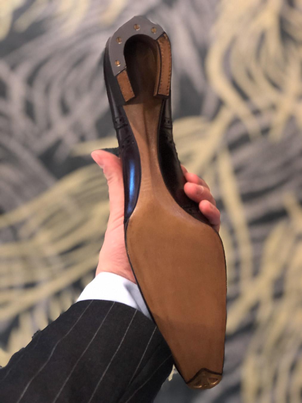 Daniel Wegan's winning shoe