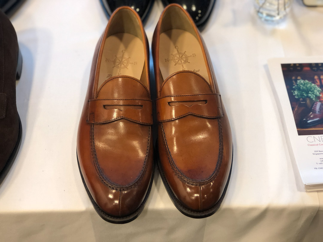 Beautiful Patina loafers by CNES Shoemaker