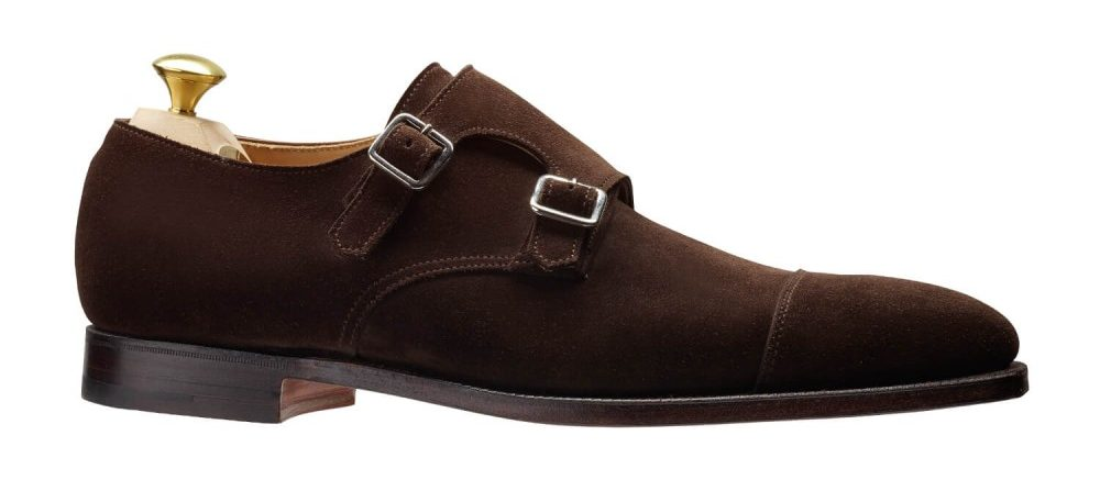 history of monk strap shoes - crockett and jones suede