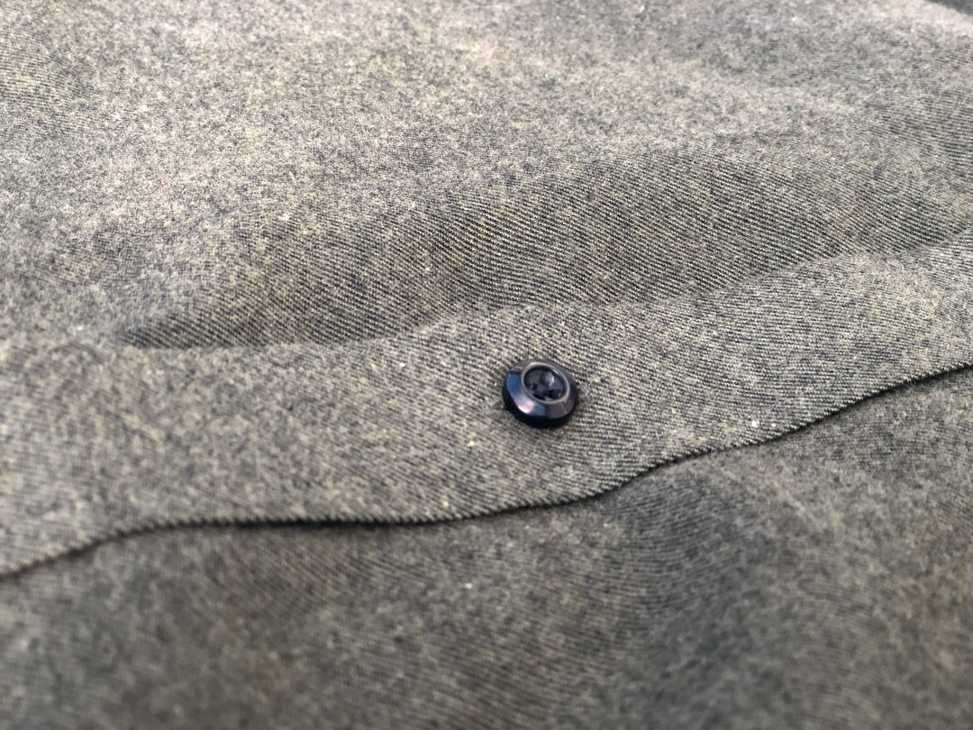 Olive Green Flannel Buttons