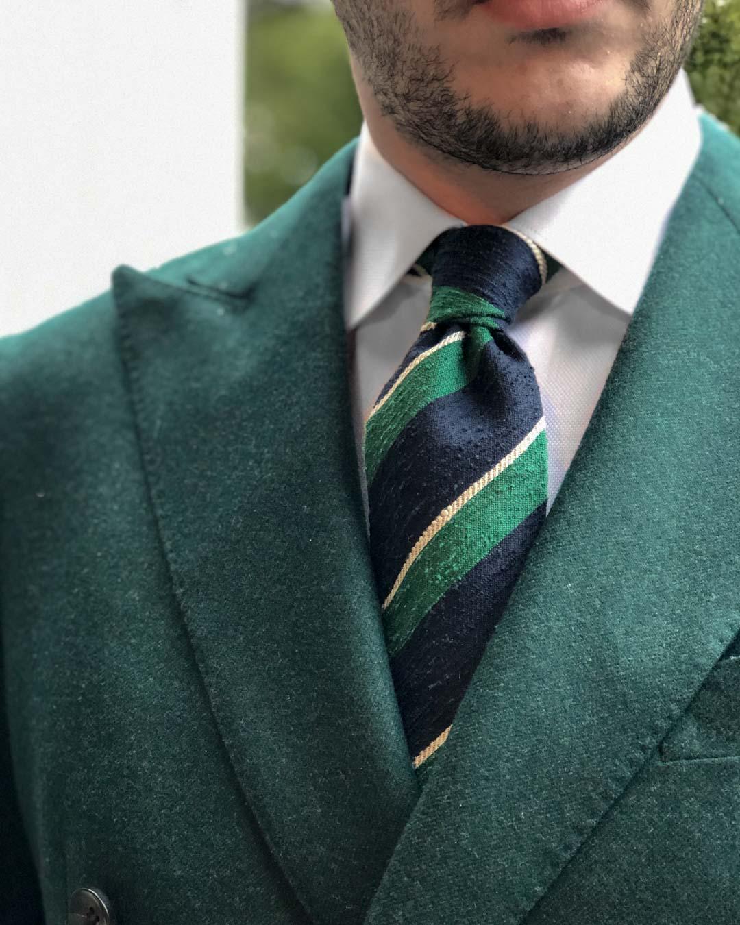 Granqvist Store Ties Review - Regimental Shantung Tie Outfit