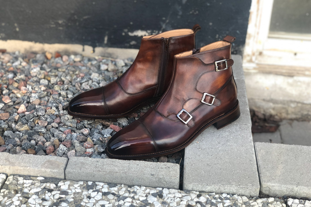 Cie Shoes Review | Welted Triple Monk Strap Boots In Brown