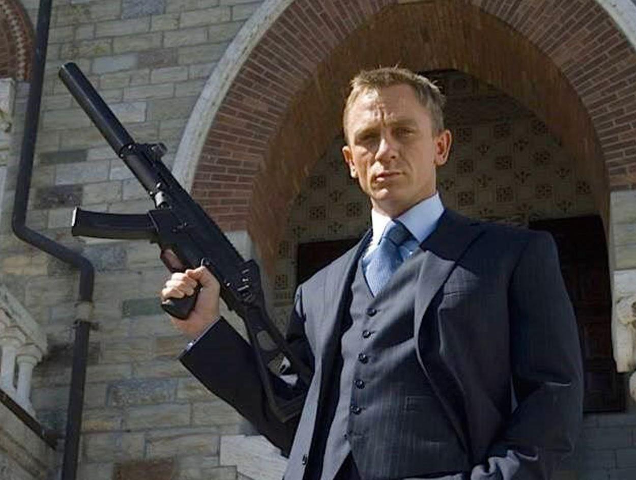 Daniel Craig Three Piece Pinstripe Suit