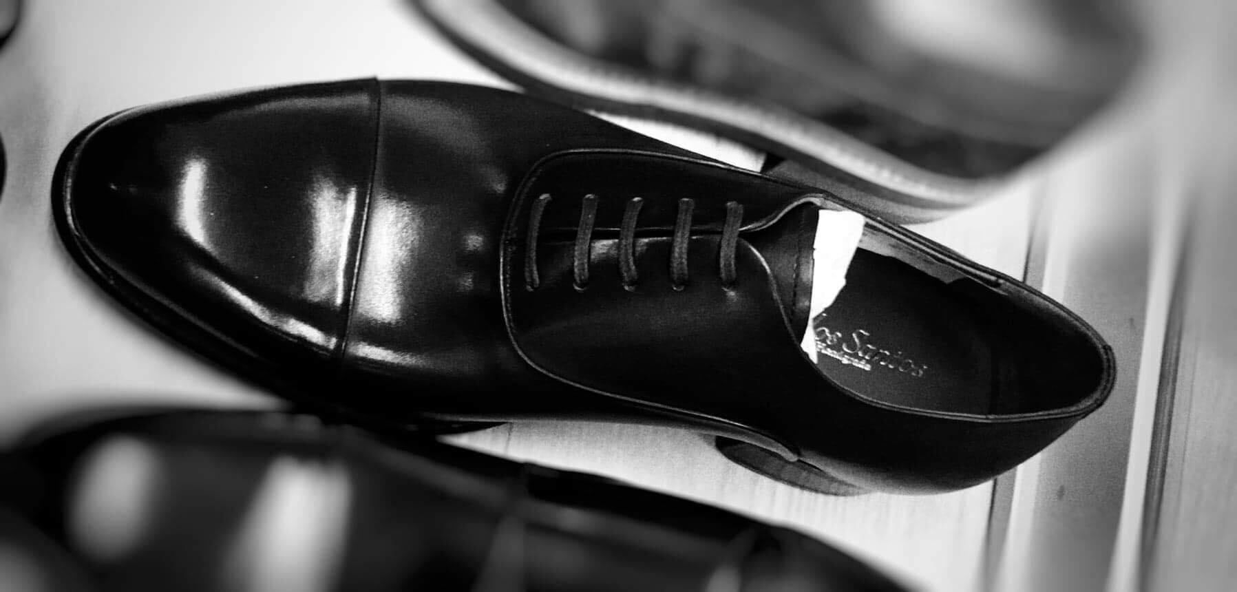 Carlos Santos 9899 Handgrade Oxford in Black Calf Exclusively for The Noble Shoe