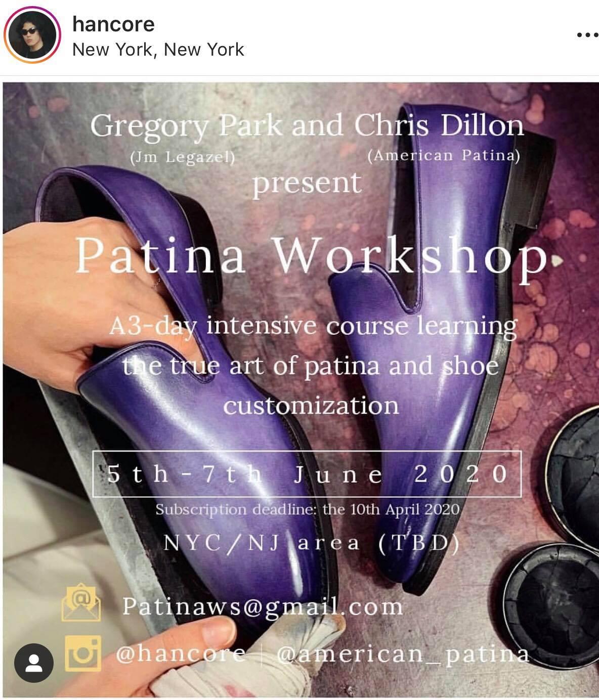 welted shoe news january 2020 - Greg Park Patina Workshop
