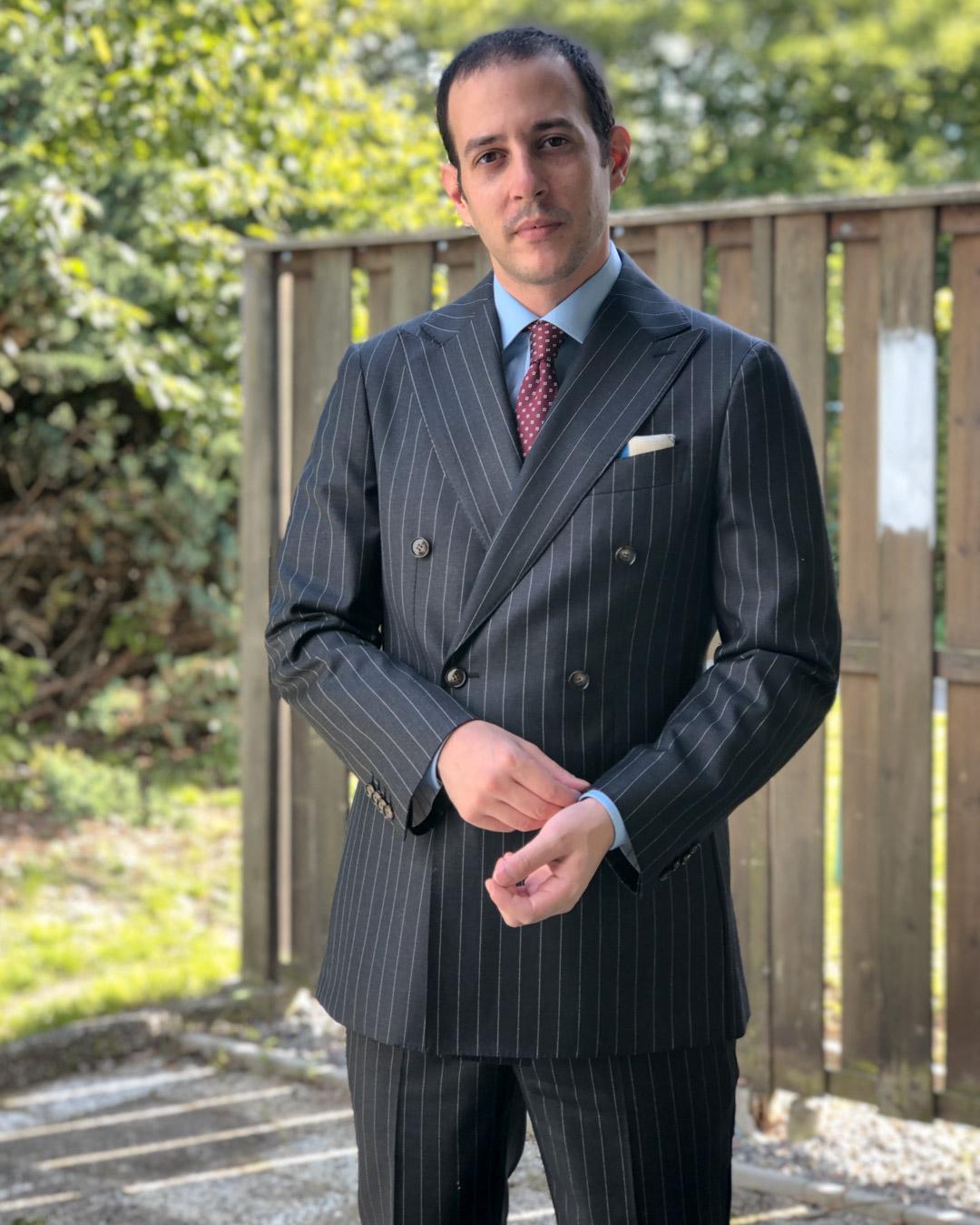 Classic Pinstripe Grey Suit