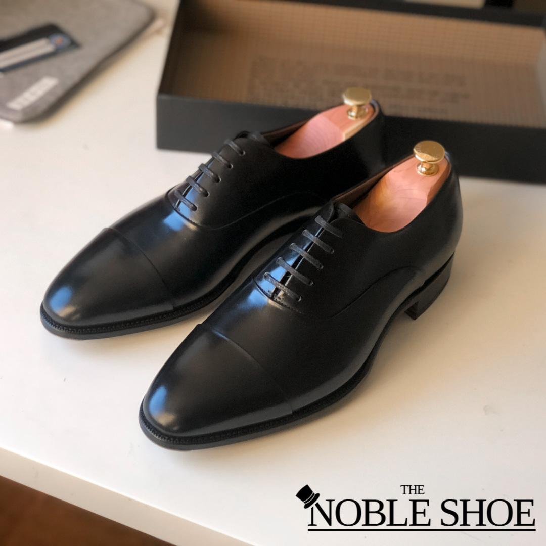 Best Looking Black Oxfords - Carlos Santos Handgrade 9899 Black Oxford for The Noble Shoe