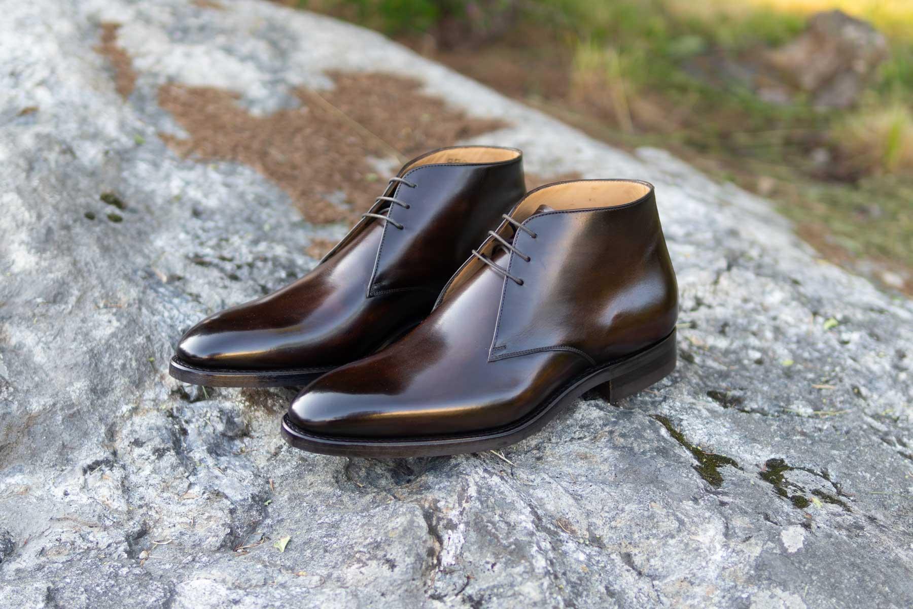 Carlos Santos 7991 Chukka Boots in Coimbra Patina for The Noble Shoe 4