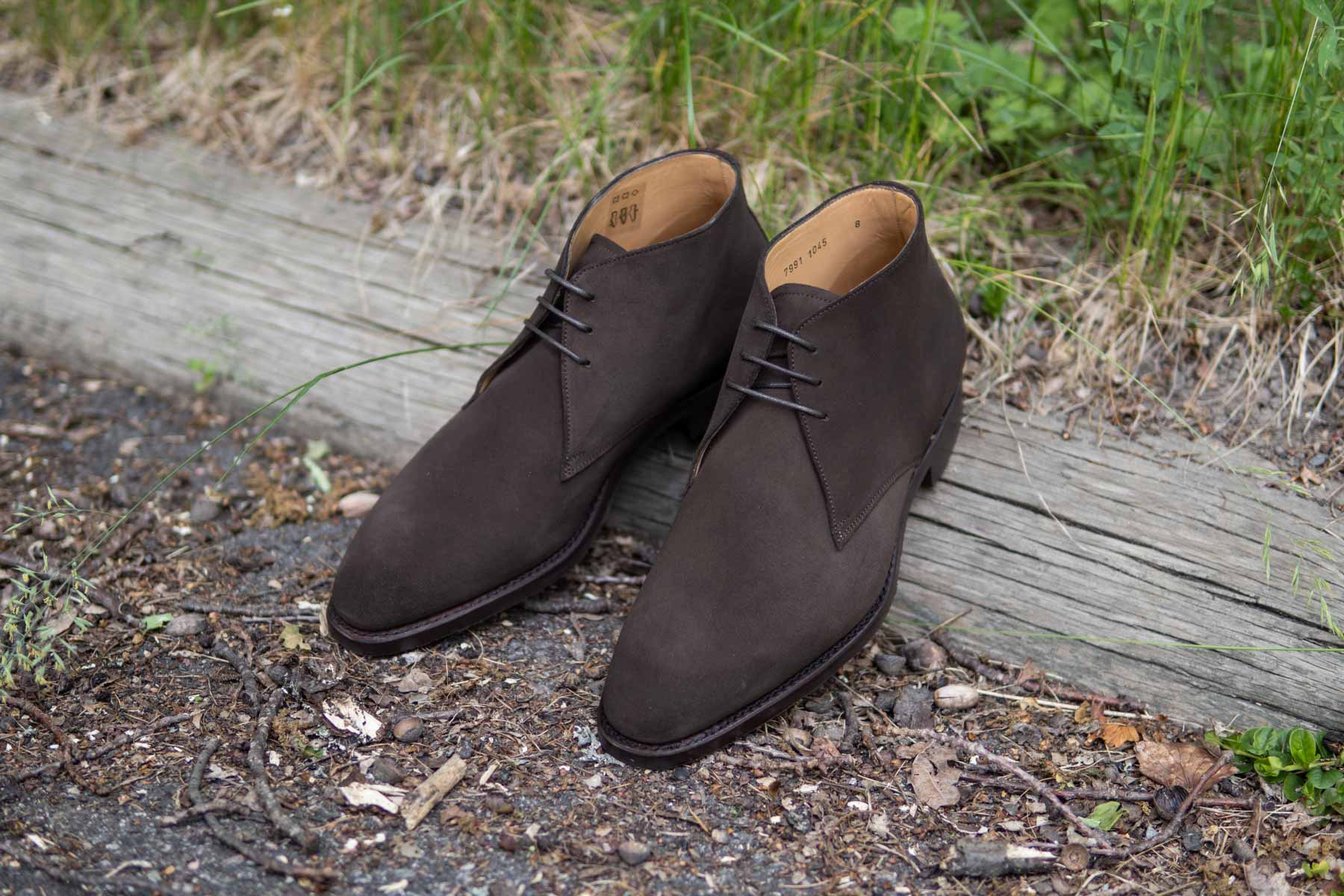 Carlos Santos 7991 Chukka Boots in Dark Brown Suede for The Noble Shoe 16