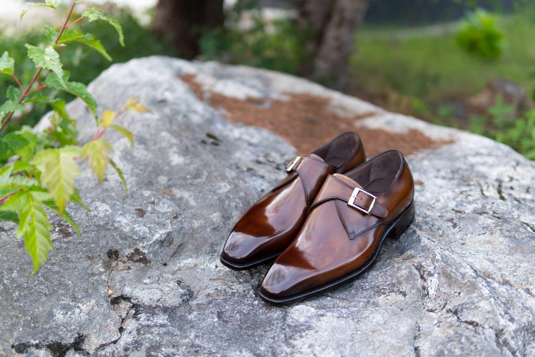Carlos Santos 6307 Handgrade Algarve Patina Monks for The Noble Shoe 3