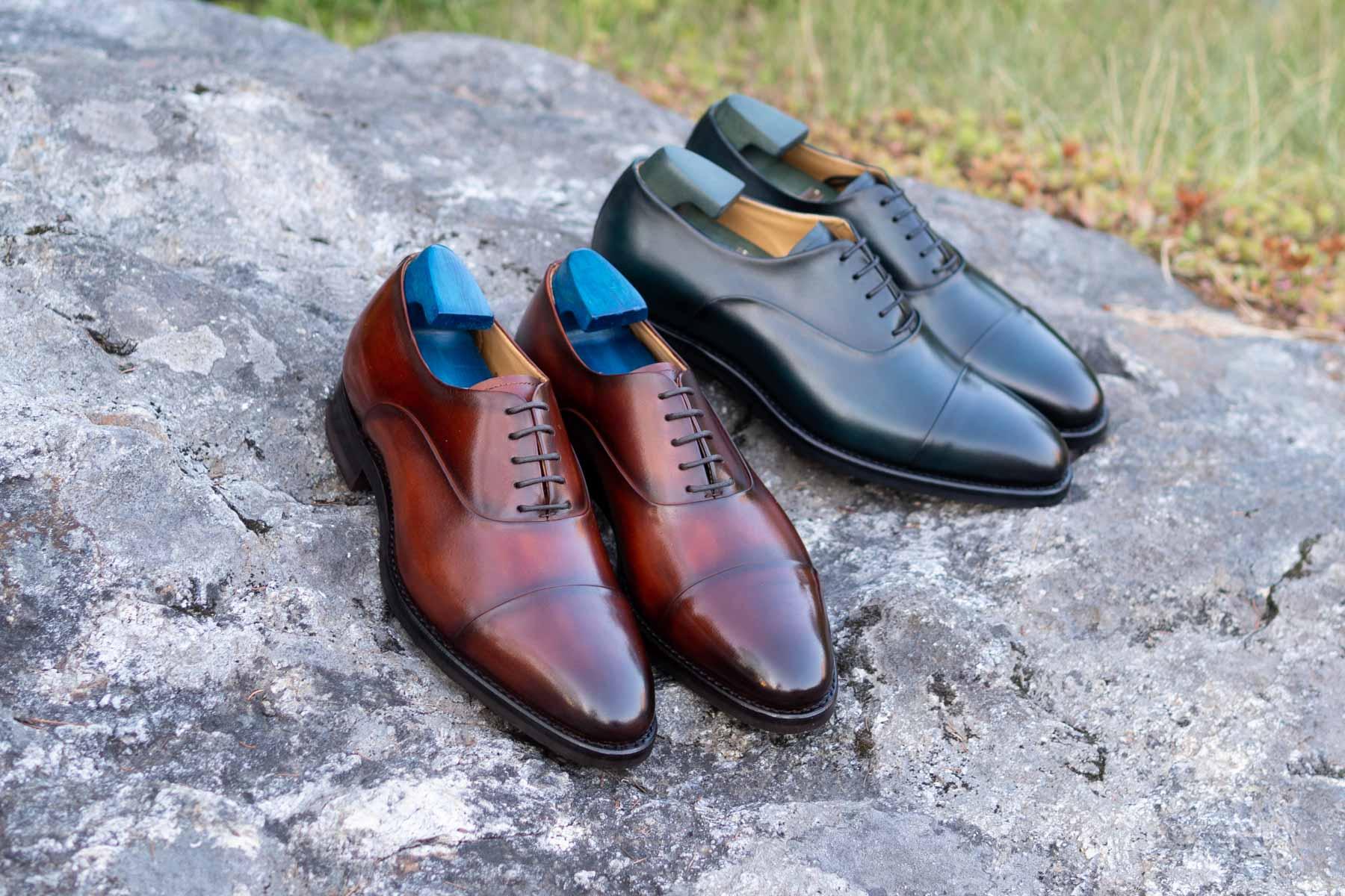Carlos Santos 9899 Handgrade Oxford in Patina for The Noble Shoe GMTO