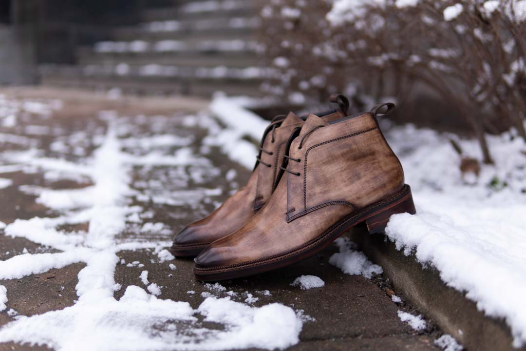 Lethato Shoes Classic Chukkas Wooden Patina