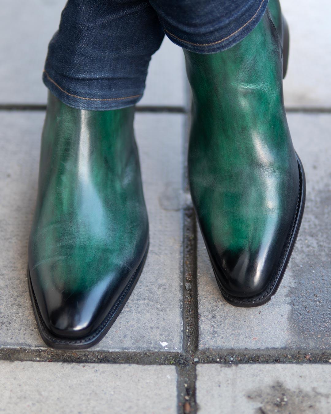 green jodhpur boots