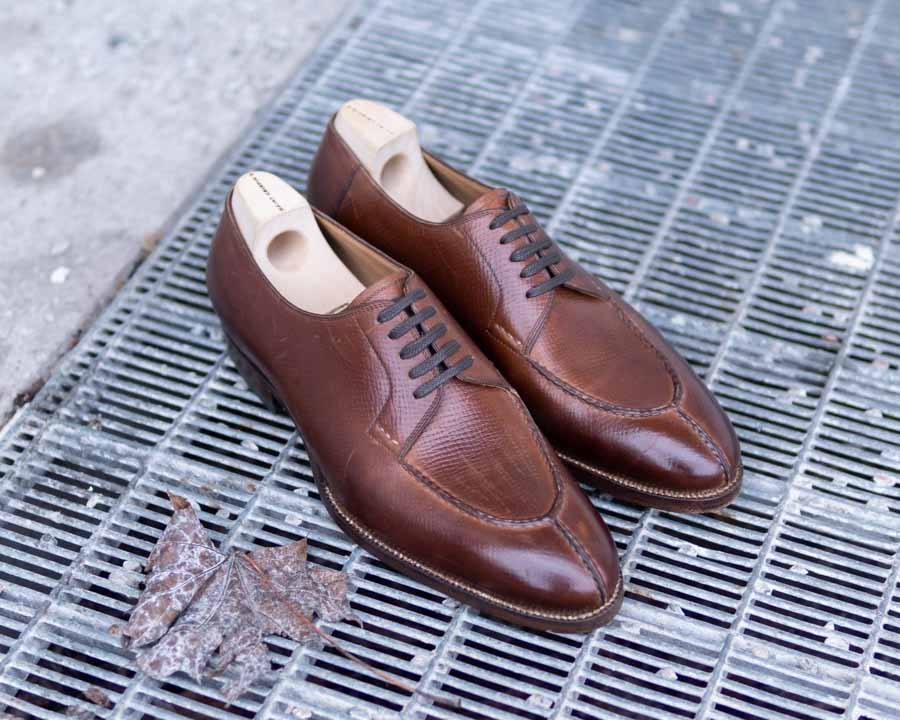Brown Split-Toe Derby