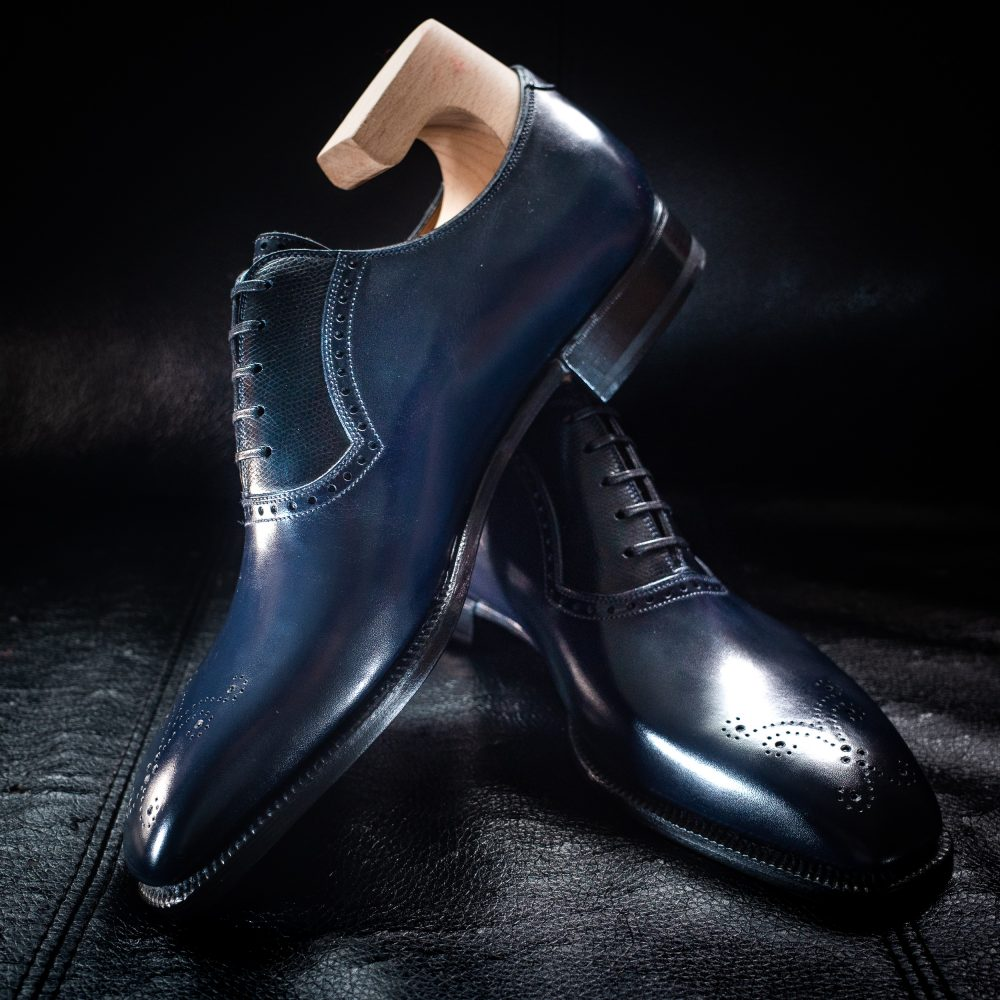 Meccariello Hastatus in Navy Calf