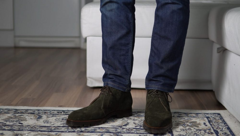 jeans and suede boots