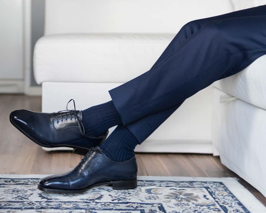 Navy Socks, Navy Suit