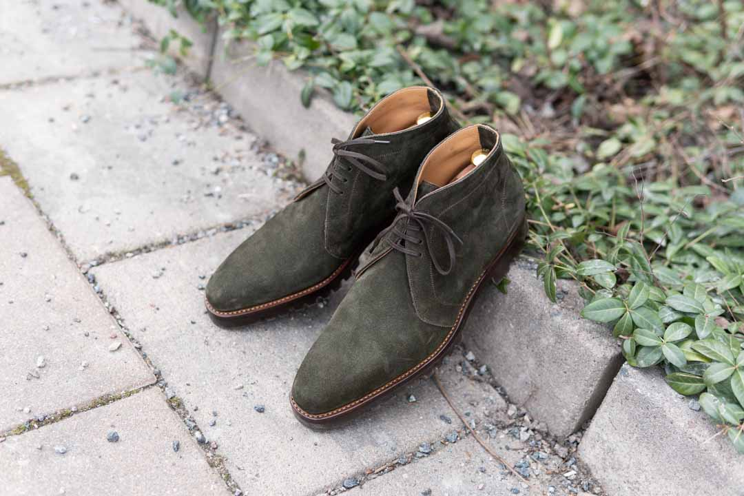 Passus Shoes Green Suede Chukkas
