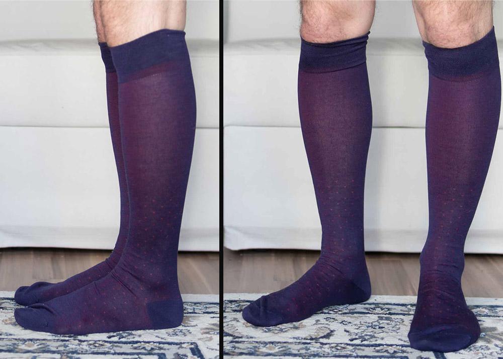 Viccel Purple Red Pin Socks