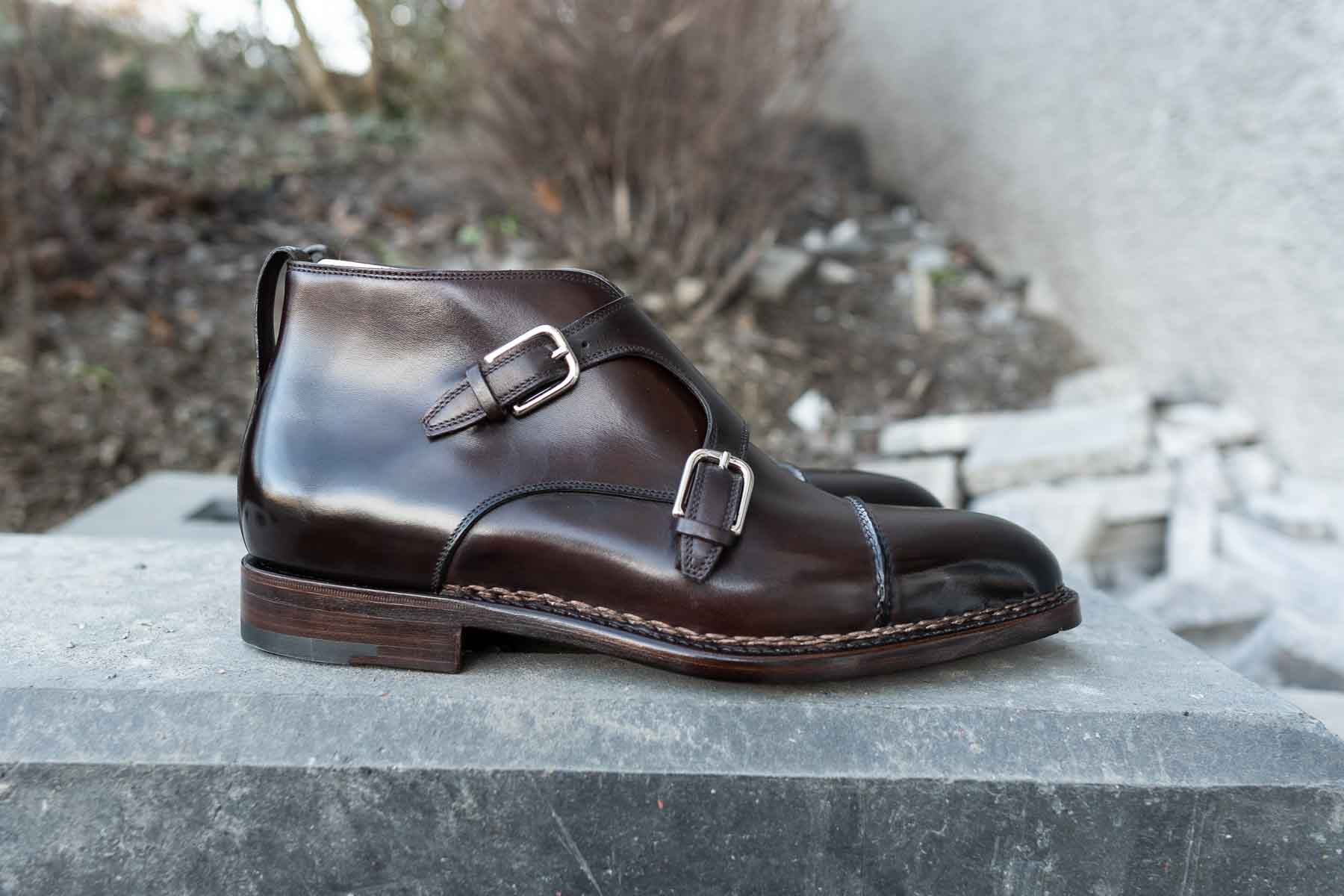 brown monk boots