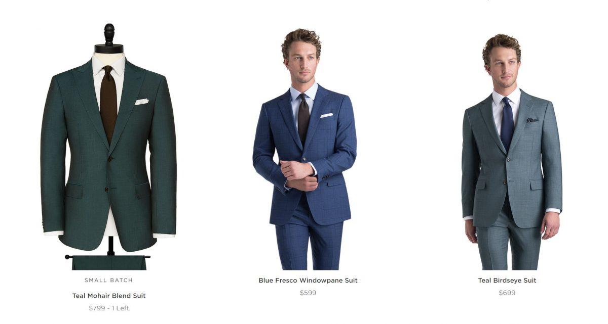 Suitsupply Alternatives - Black Lapel Suit Examples