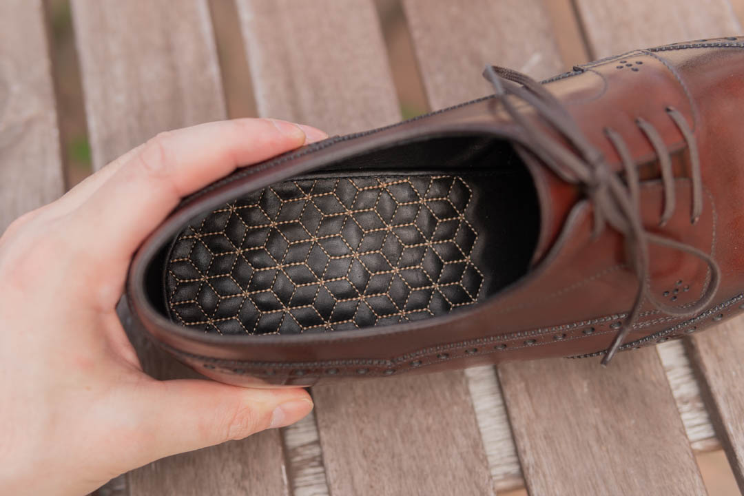 Quilted padded insole