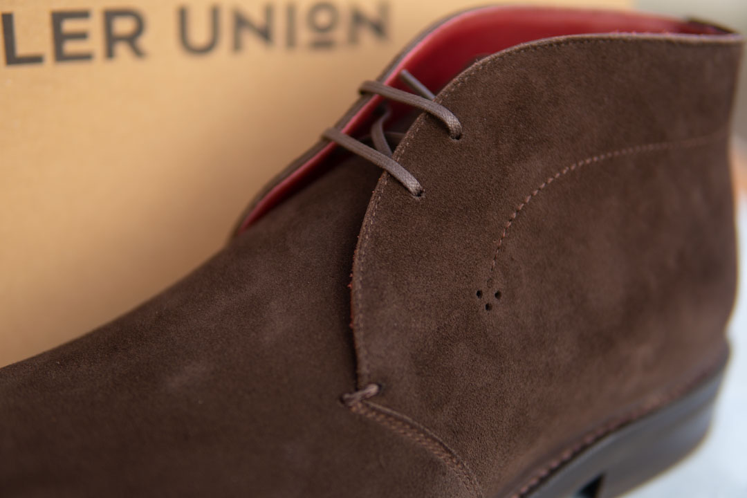 brown suede leather