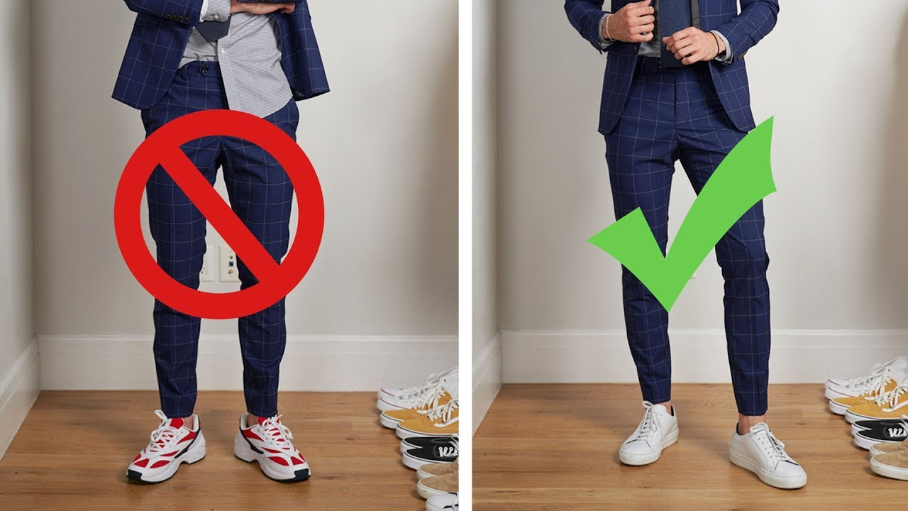 Horrible Sneakers with suit
