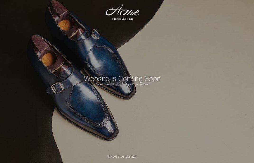 Acme Shoemaker Website Launch